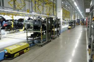 Árukosaras logisztikai rendszer a Mercedes-Benz gyárban